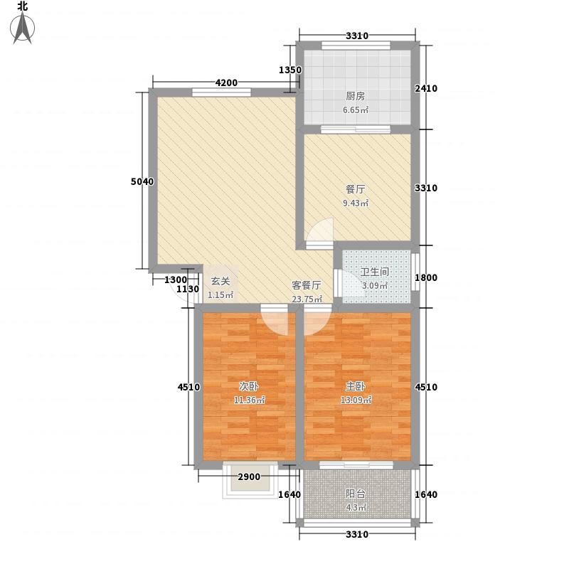 丰泰苑4.00㎡户型2室1厅1卫1厨