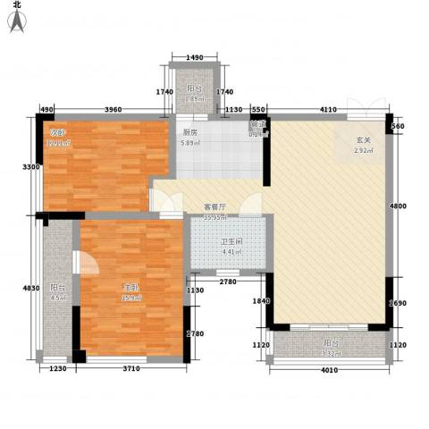 宗申动力城2室1厅1卫0厨113.00㎡户型图