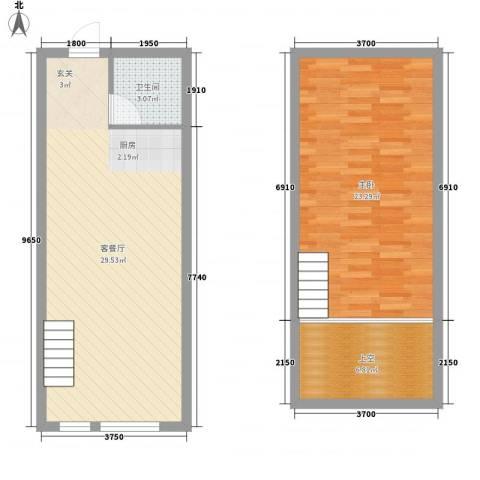 星城国际1室1厅1卫0厨62.69㎡户型图