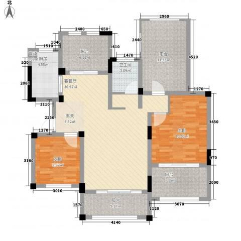 半岛蓝湾2室1厅1卫1厨131.00㎡户型图