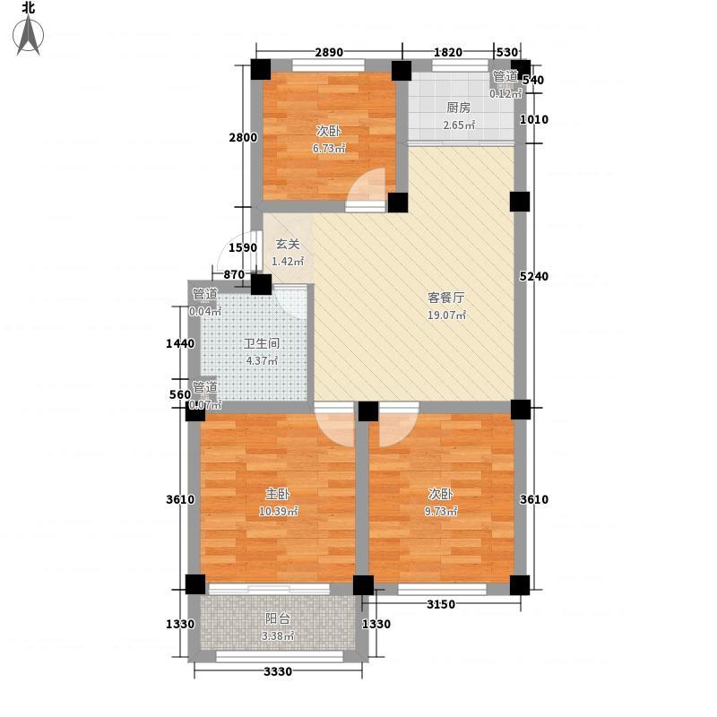 文峰时代广场户型3室2厅1卫1厨