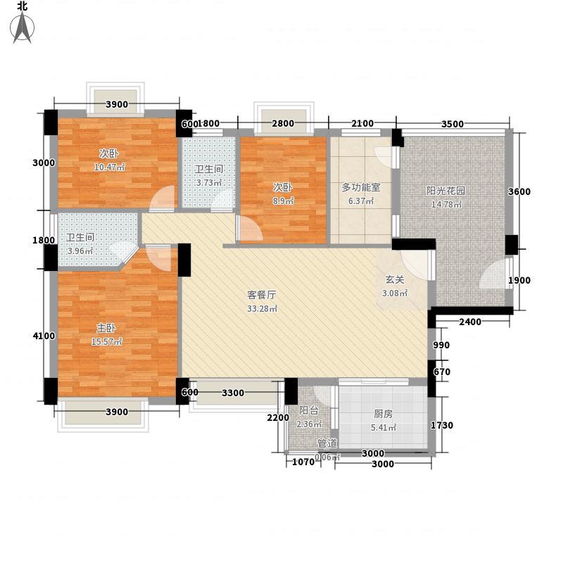 金宝山庄125.50㎡23/24/25/26/27栋03/04号房户型3室2厅2卫