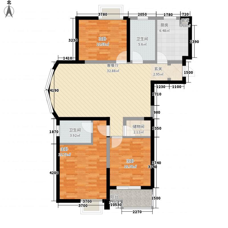 奕淳・奕翔国际公寓131.25㎡A1-1户型3室2厅2卫1厨