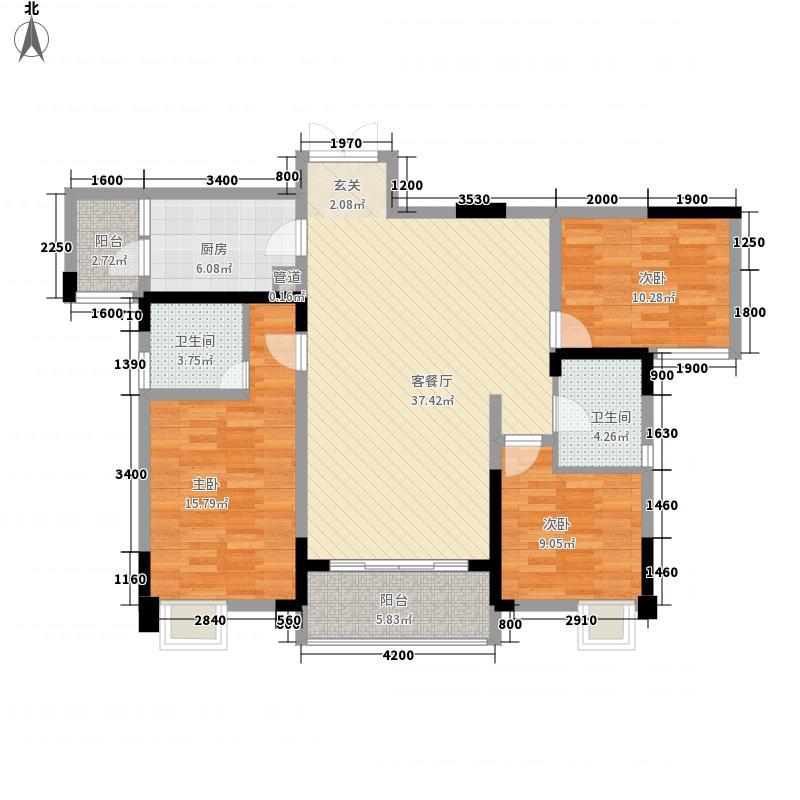 建工依山郡一期1、2、3号楼18层C户型