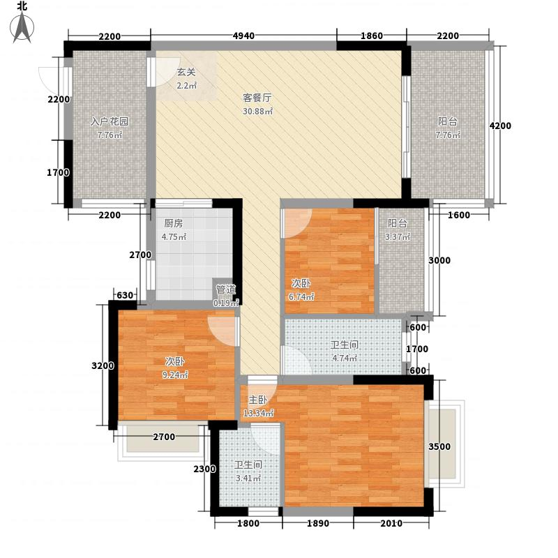 派87.37㎡3栋03/04户型3室2厅2卫1厨