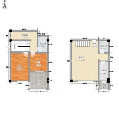 SOLO自由城2室1厅2卫1厨126.00㎡户型图