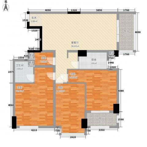 滨东康城二期4室1厅1卫1厨144.00㎡户型图