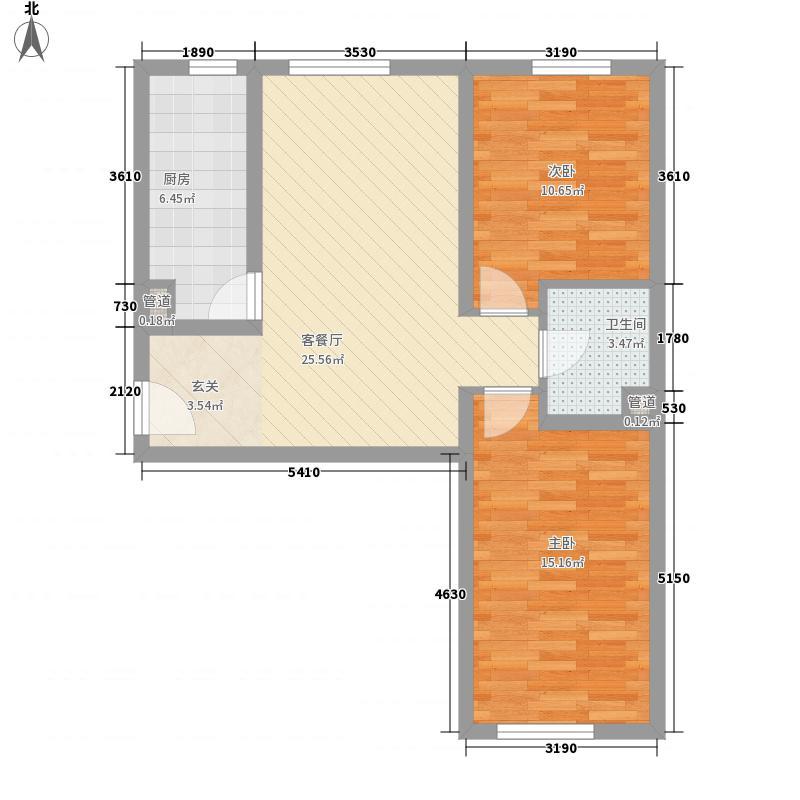 双龙小区户型2室2厅