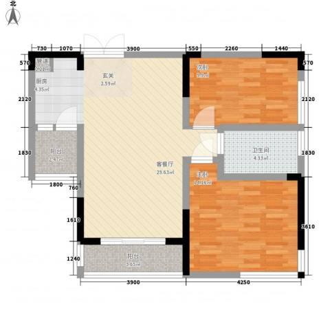 宗申动力城2室1厅1卫0厨93.00㎡户型图