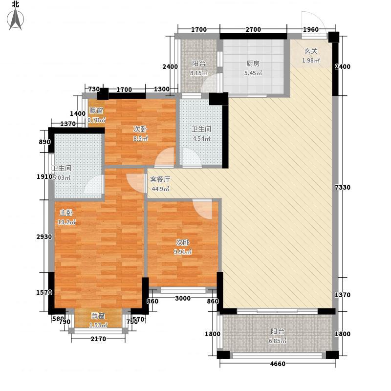 金山湖花园124.00㎡2号小区203栋1、2单元01、02户型3室2厅2卫