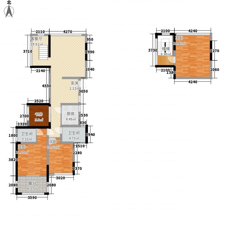 积家B1偶数2号楼户型4室2厅2卫1厨