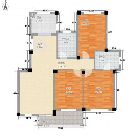柏顿公馆1室1厅2卫1厨133.00㎡户型图