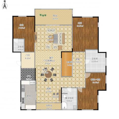 九龙仓国宾1号2室1厅2卫1厨312.00㎡户型图