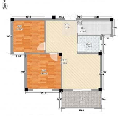 柏顿公馆1室1厅1卫1厨88.00㎡户型图