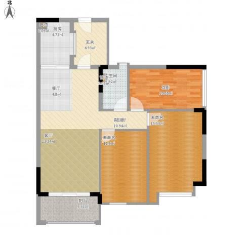 雅居乐城南源著1室1厅1卫1厨120.00㎡户型图