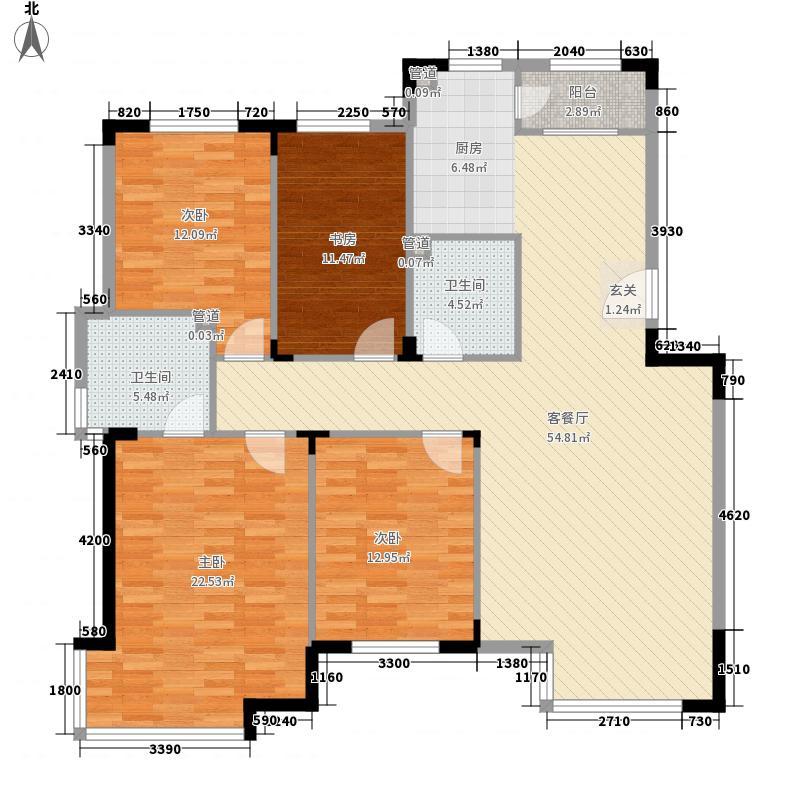 亚泰樱花苑145.00㎡08年新品D户型4室2厅2卫