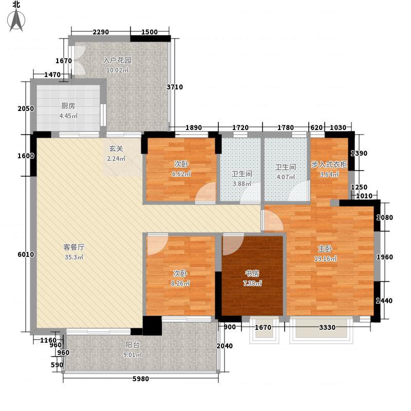 美林玉桂山户型4室