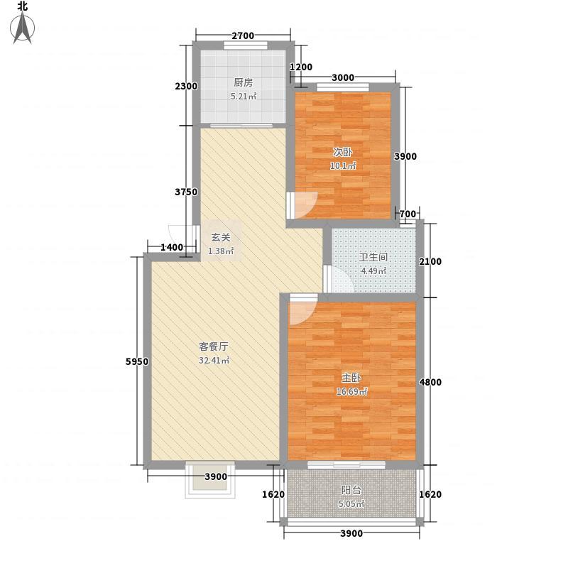 丰泰苑4.70㎡户型2室1厅1卫1厨