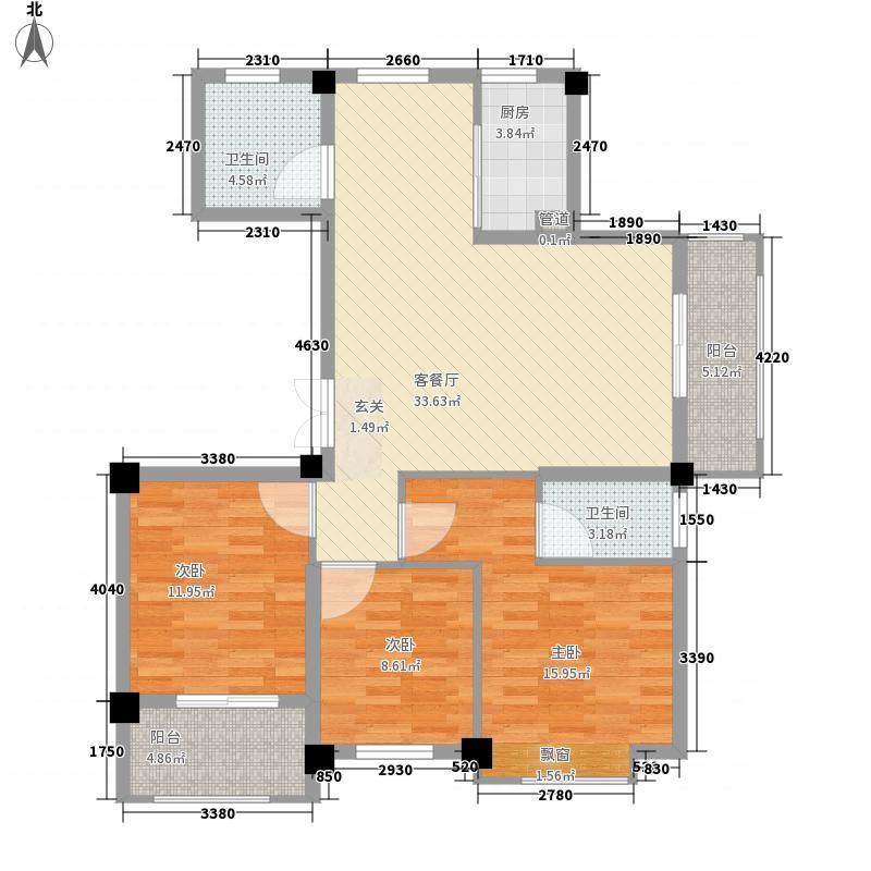 新中宇维萨13.00㎡G户型3室2厅2卫1厨
