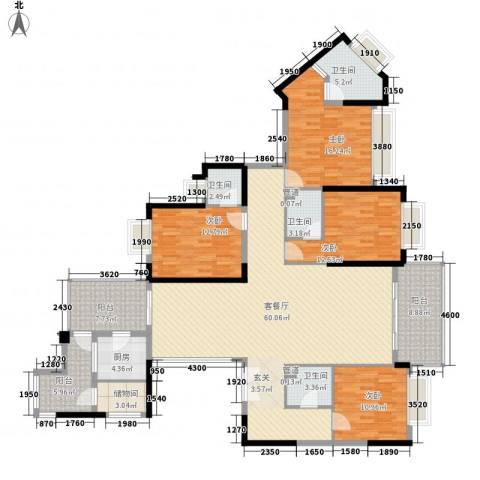 万科翡丽山4室1厅4卫1厨230.00㎡户型图