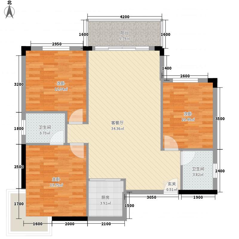龙源世纪家园户型3室