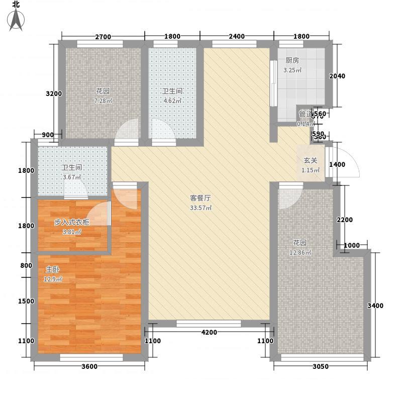 银盛泰书香蔓城113.00㎡g-d户型3室