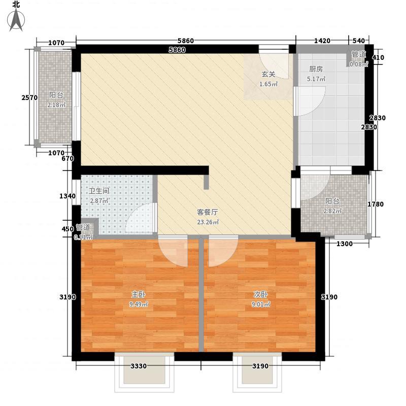 滨湖世纪城78.49㎡滨湖世纪城户型图公寓式写字楼A户型2室2厅1卫1厨户型2室2厅1卫1厨