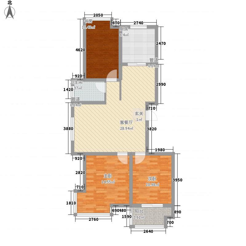 九龙山庄113.00㎡高层24、25#楼户型3室2厅1卫1厨