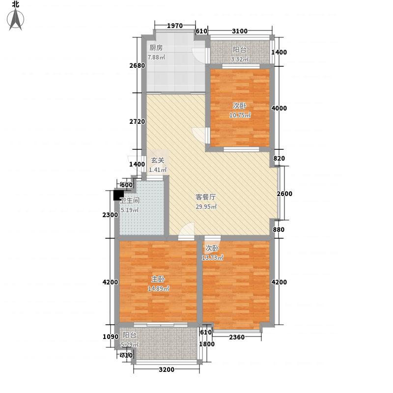 寒亭区商业总公司115.82㎡小区一期1#商住楼住宅1户型3室2厅1卫1厨