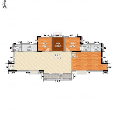 半山雍景苑4室1厅3卫1厨183.00㎡户型图