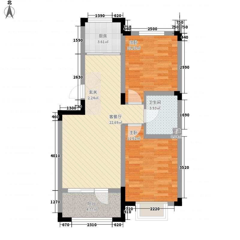 太湖明珠花园75.00㎡多层户型2室2厅1卫1厨