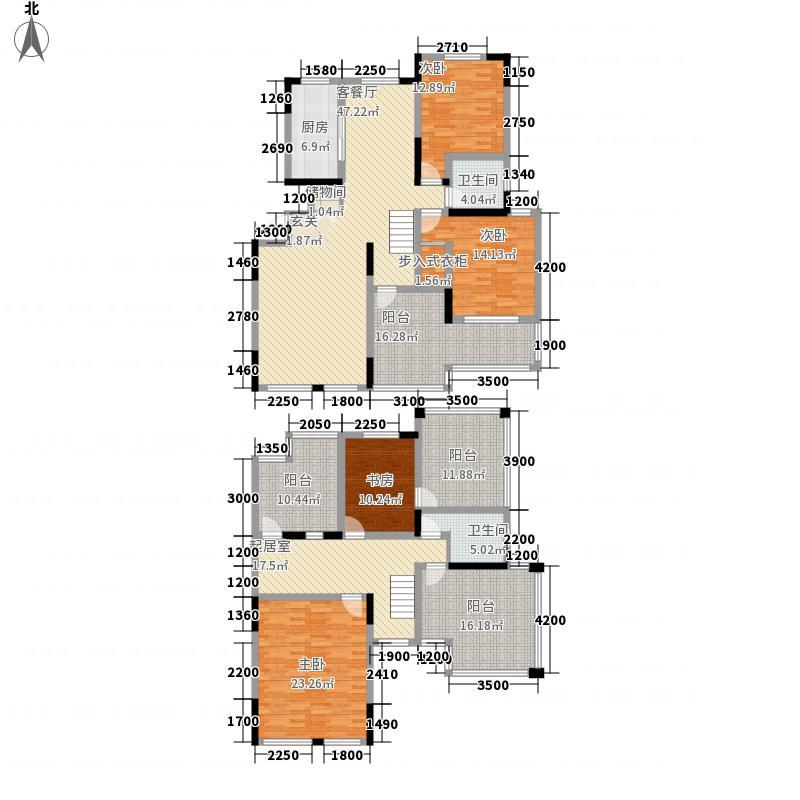 鑫苑景园185.00㎡E户型4室3厅2卫1厨