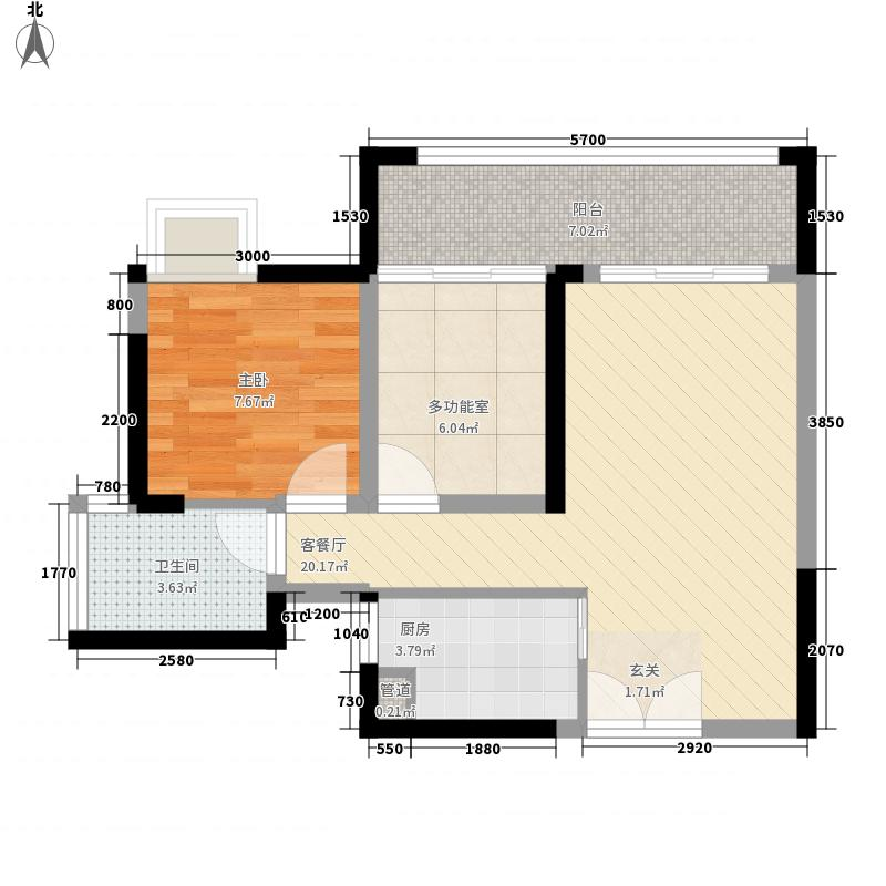 华轩居11.00㎡户型3室
