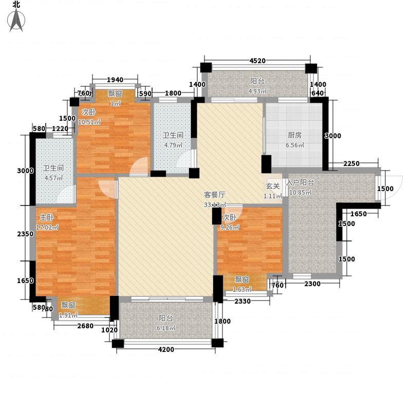 金山湖花园125.00㎡2号小区204栋1单元3号、2单元4号户型3室2厅2卫