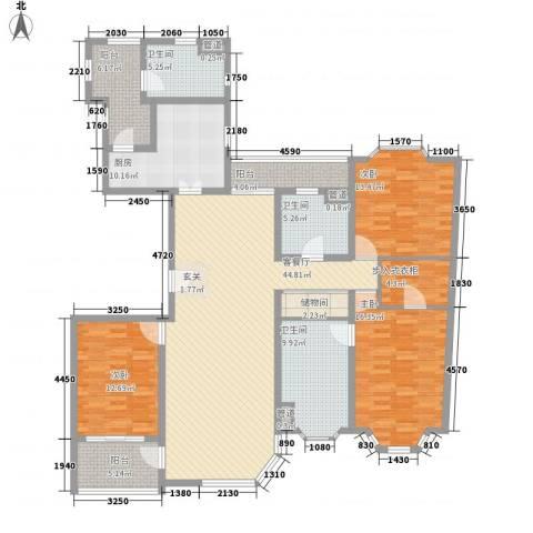 华丽家族古北花园3室1厅3卫1厨201.00㎡户型图