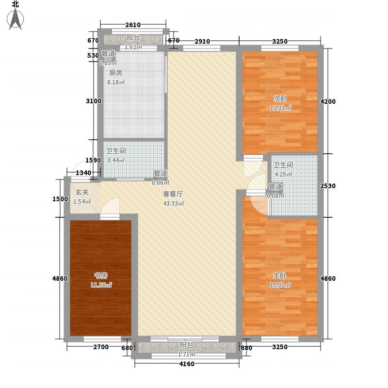 天庭大厦1户型2室1厅1卫1厨