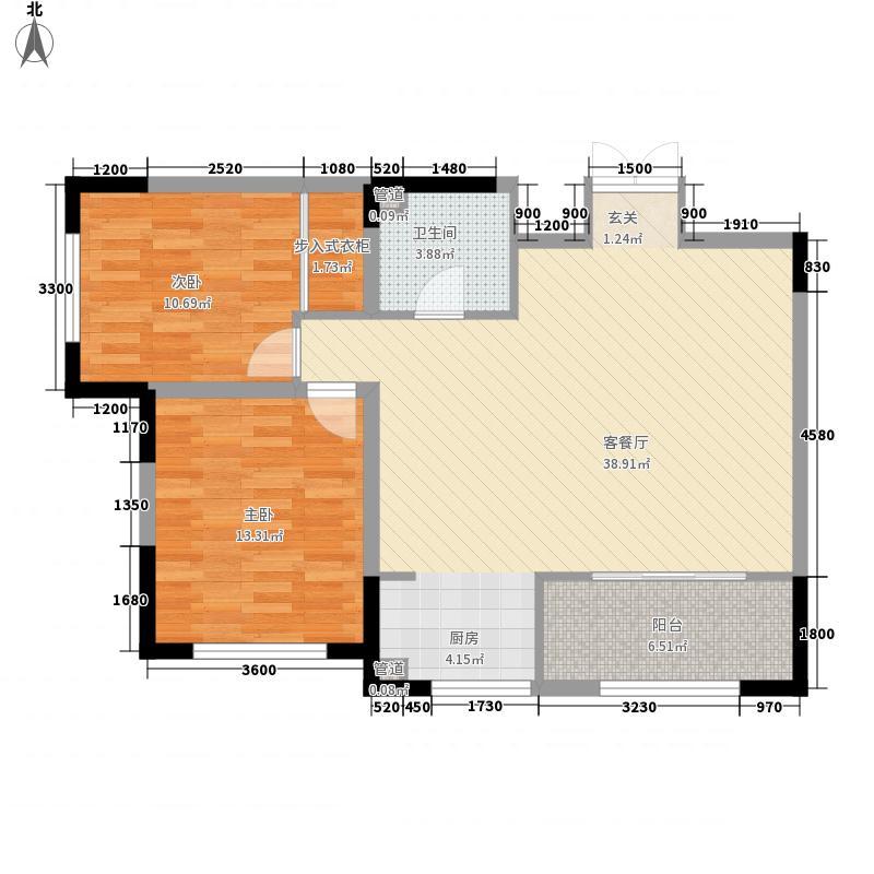 百合家园16.00㎡户型3室