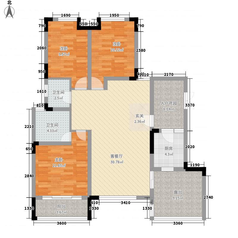 维也纳湖畔3室1厅2卫1厨133.00㎡户型图