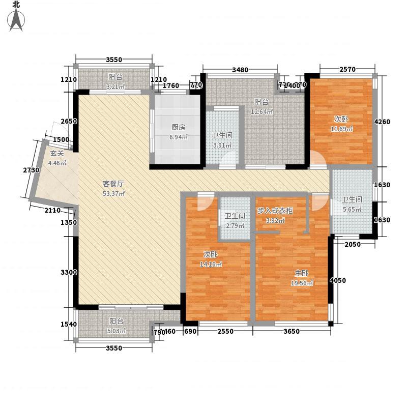 泉舜财富中心178.61㎡舒适户型3室2厅3卫1厨