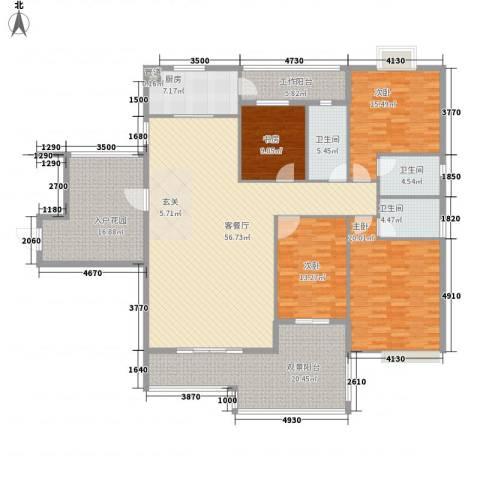 水口雅乐苑4室1厅3卫1厨184.00㎡户型图