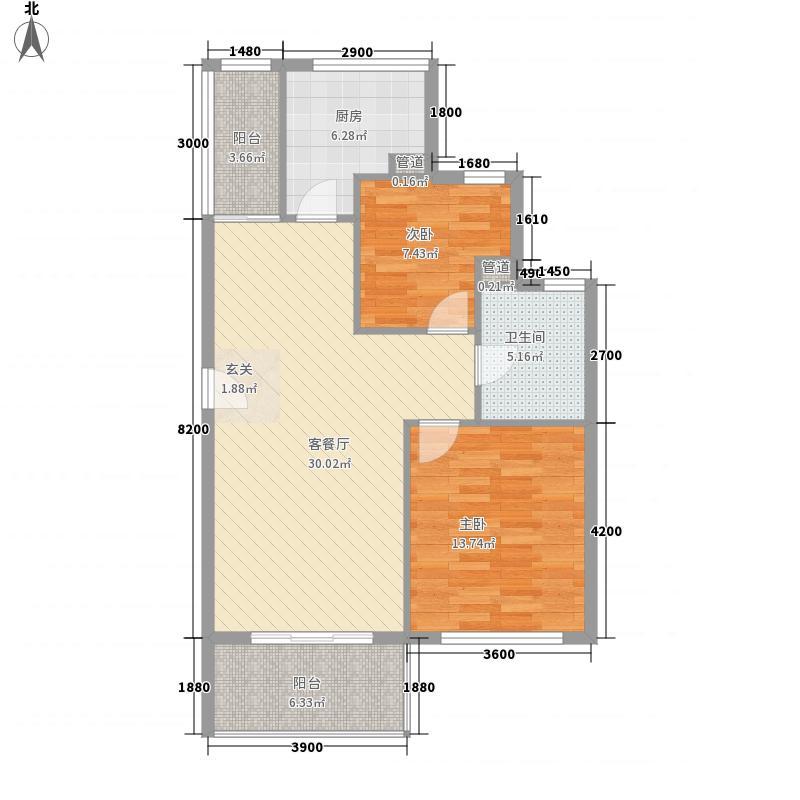 福临花园户型3室2厅2卫1厨