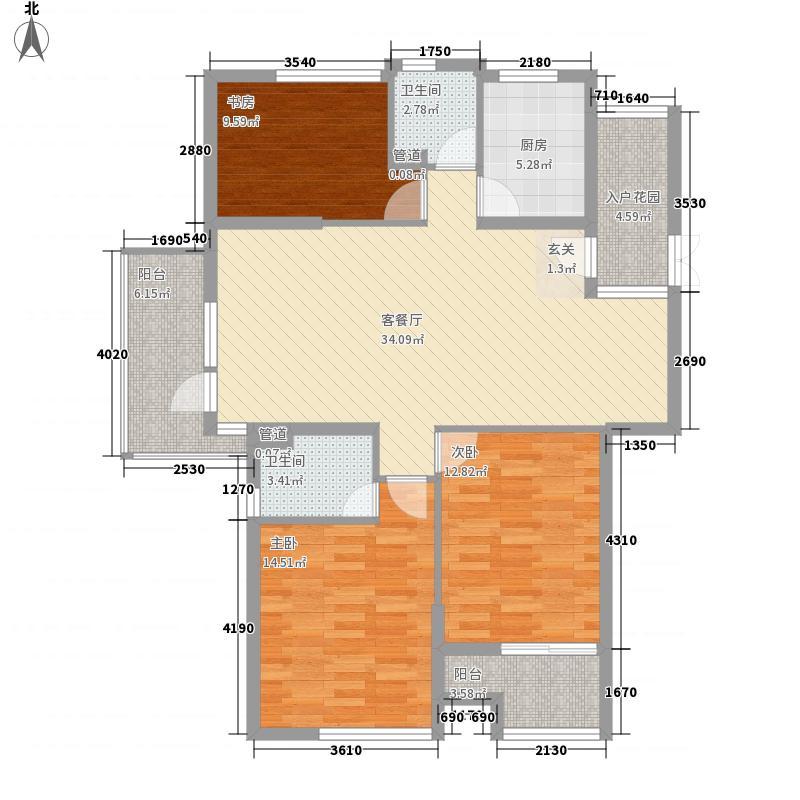 文景雅居138.00㎡户型3室