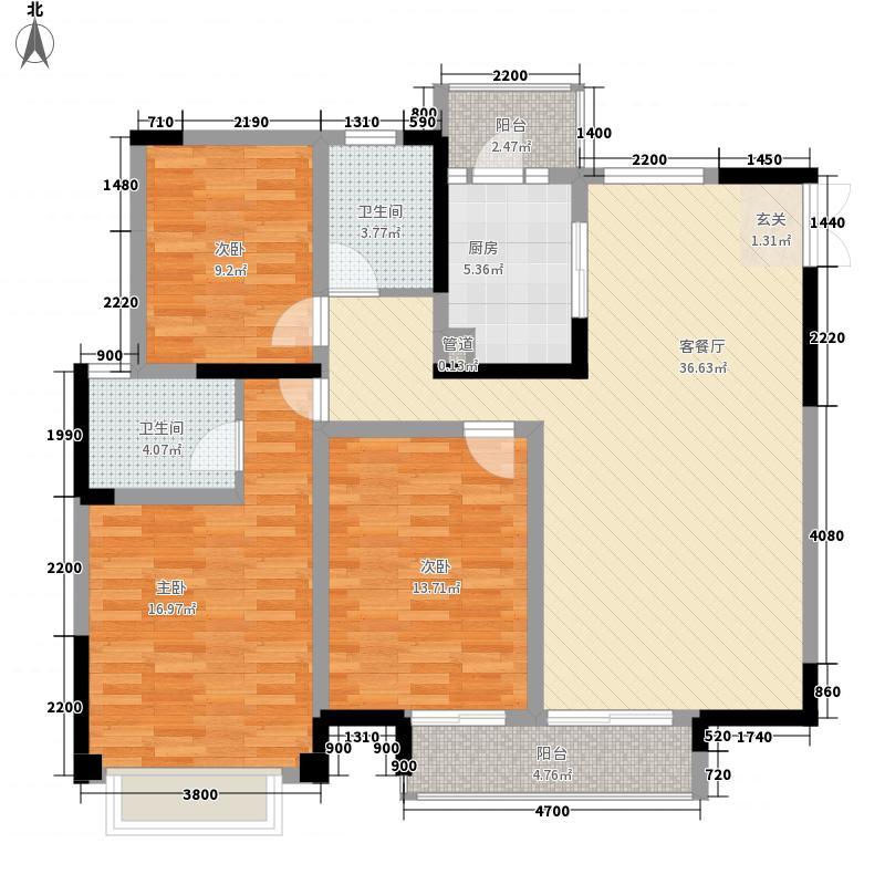 建工依山郡一期4、5号楼32层A户型