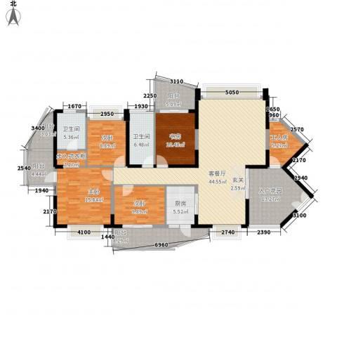 中天彩虹城4室1厅2卫1厨182.00㎡户型图