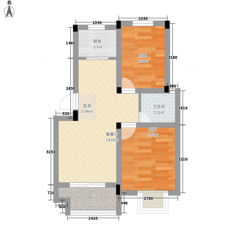 建设厅家属院53.00㎡户型2室