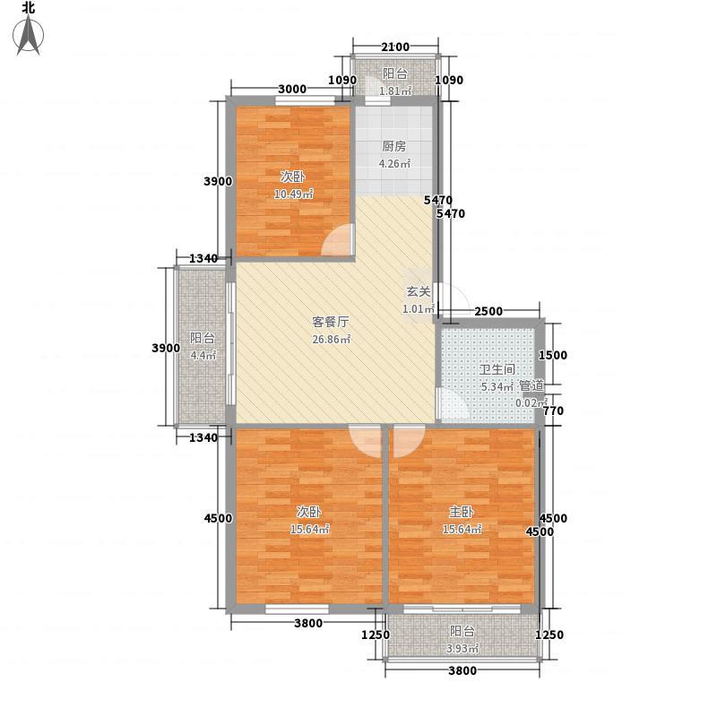 民航宿舍民行宿舍户型3室1厅1卫1厨