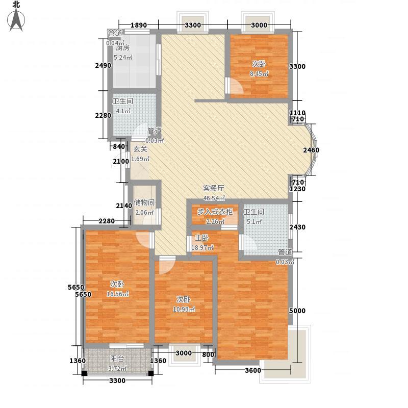 博雅书院18.20㎡A18029户型4室2厅2卫1厨