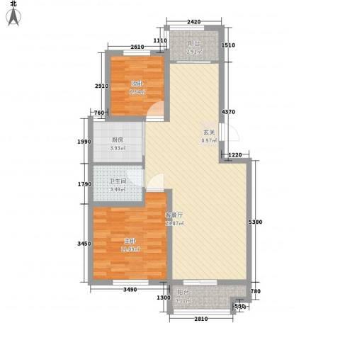 金裕大厦2室1厅1卫1厨88.00㎡户型图