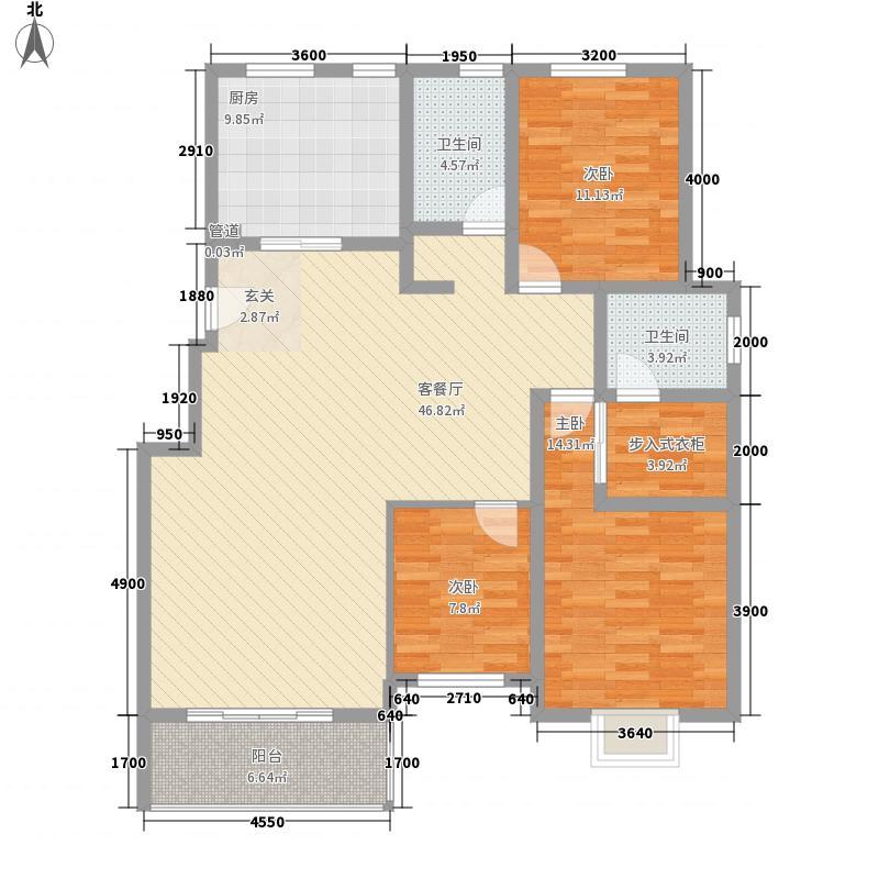 世纪广场小区户型2室2厅2卫1厨