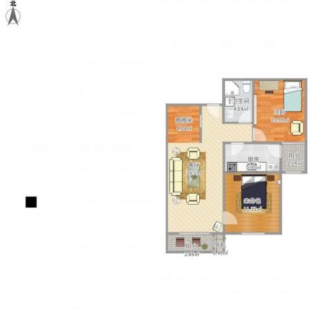 北京市怀柔区庙城镇怡安园小区1室1厅1卫1厨86.00㎡户型图